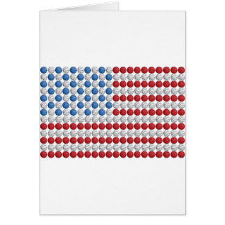 Basketball American Flag Cards