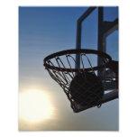 Basketball And Basketball Hoop Photograph