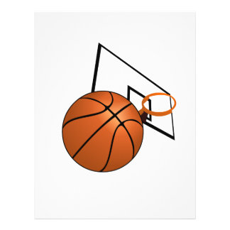 Basketball and Hoop 21.5 Cm X 28 Cm Flyer
