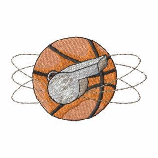 Basketball and Whistle Embroidered Polo Shirt