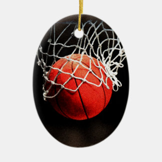 Basketball Art Ceramic Oval Decoration