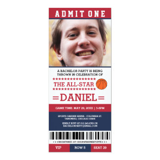 Basketball Bachelor Party Invites