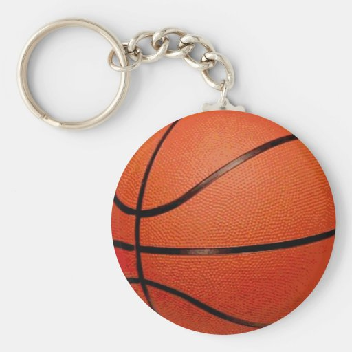Basketball Ball Basic Round Button Key Ring
