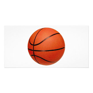 Basketball Ball Custom Photo Card