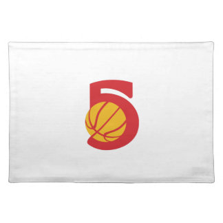 Basketball Ball Five Retro Placemat