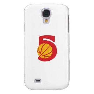 Basketball Ball Five Retro Samsung Galaxy S4 Case