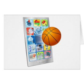 Basketball ball mobile phone cards