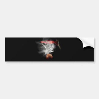 Basketball Ball & Net Bumper Sticker