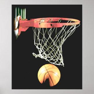 Basketball Ball & Net Poster