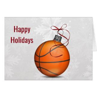 basketball ball ornament Holiday Greetings Card