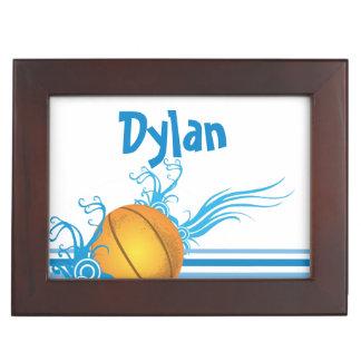 Basketball Ball Sports Game Personalized Name Keepsake Box