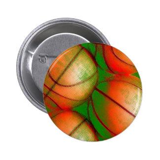 Basketball Balls 6 Cm Round Badge