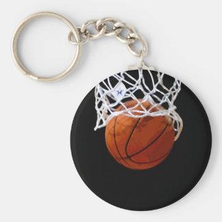 Basketball Basic Round Button Key Ring
