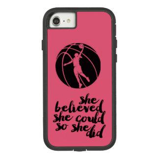 Basketball Basket Ball Girly Teen Girl Coach Case-Mate Tough Extreme iPhone 8/7 Case