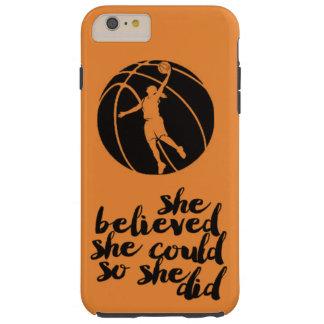 Basketball Basket Ball Girly Teen Girl Coach Tough iPhone 6 Plus Case