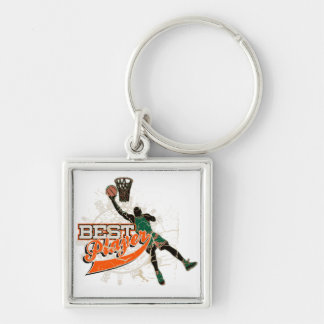 Basketball Best Player Green and Orange Key Chain