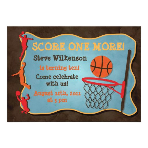 Basketball Birthday Invitations for awesome invitations template