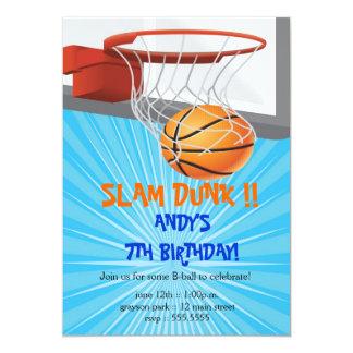 Basketball Birthday Party Invitations