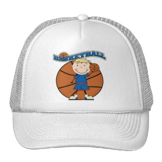 BASKETBALL Blond Boy T-shirts and Gifts Cap