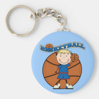 BASKETBALL Blond Boy T-shirts and Gifts Keychains
