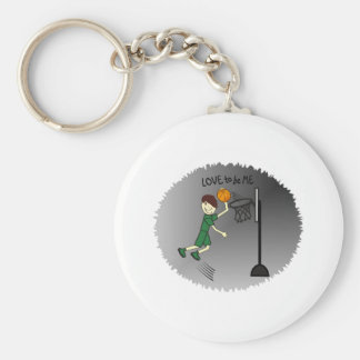 BASKETBALL - BOY - LOVE TO BE ME KEY CHAINS
