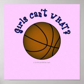 Basketball - Brown/Blue Poster