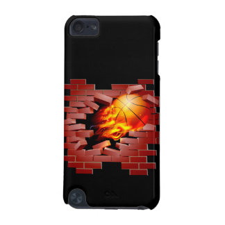 Basketball busting through brick wall iPod touch 5G cases