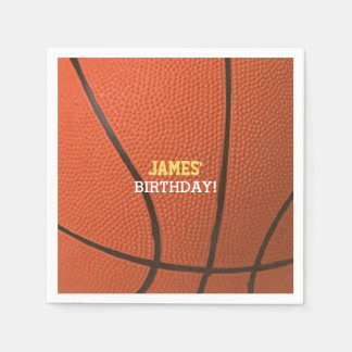 Basketball Celebration Personalized Paper Serviettes