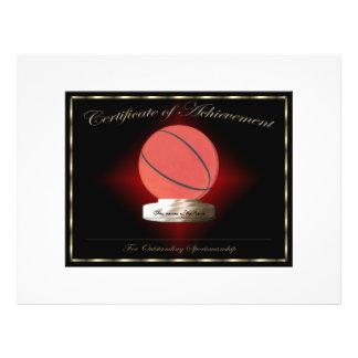 Basketball Certificate of Achievement 21.5 Cm X 28 Cm Flyer
