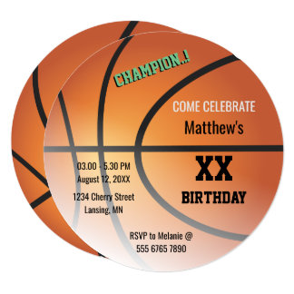Basketball Champ Hoops Birthday Party Card