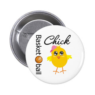 Basketball Chick 6 Cm Round Badge