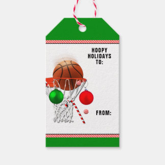 basketball Christmas Gift Tags