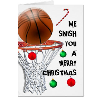 basketball Christmas holiday cards
