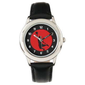 Basketball Circle Red Wristwatch