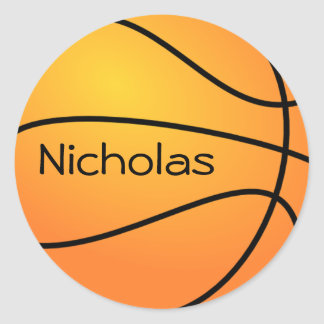 Basketball. Classic Round Sticker