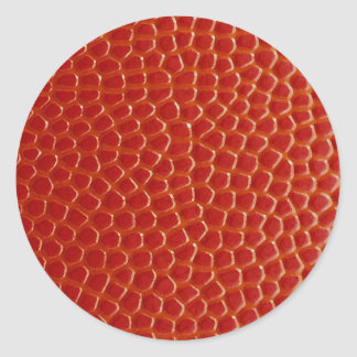 Basketball Close-up Texture Classic Round Sticker