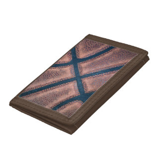 Basketball Close Up Trifold Wallet