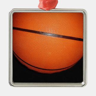 Basketball Closeup Skin Silver-Colored Square Decoration