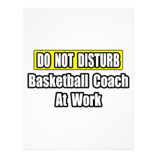 Basketball Coach At Work Personalized Flyer