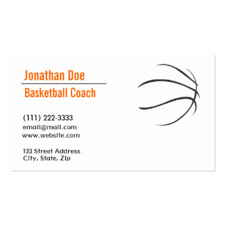 Basketball Coach Business Card