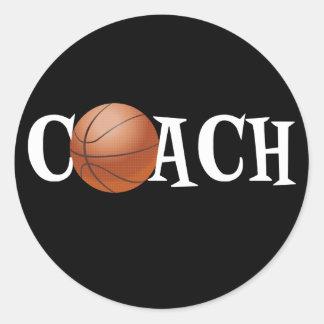 Basketball Coach Classic Round Sticker