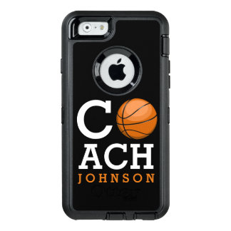 Basketball Coach Custom Name OtterBox Defender iPhone Case