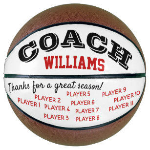 Basketball coach custom thank you gift - ball
