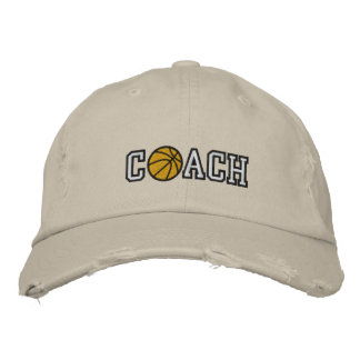 Basketball Coach Embroidered Hat