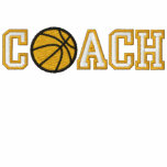 Basketball Coach Embroidered Hoodie