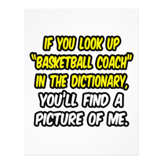 Basketball Coach In Dictionary...My Picture Personalized Flyer