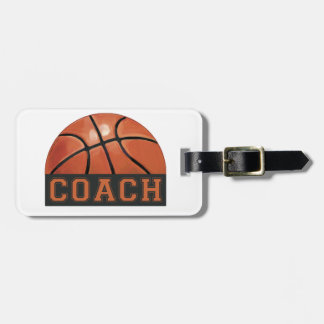 Basketball Coach Luggage Tag