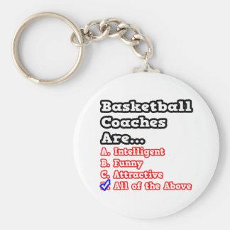 Basketball Coach Quiz...Joke Basic Round Button Key Ring
