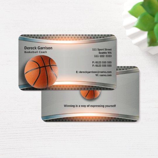 Basketball coach sport business card zazzle basketball coach sport business card colourmoves