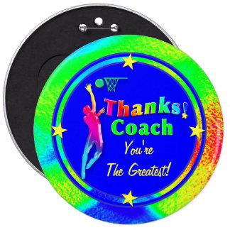 Basketball Coach Star Thank You Button